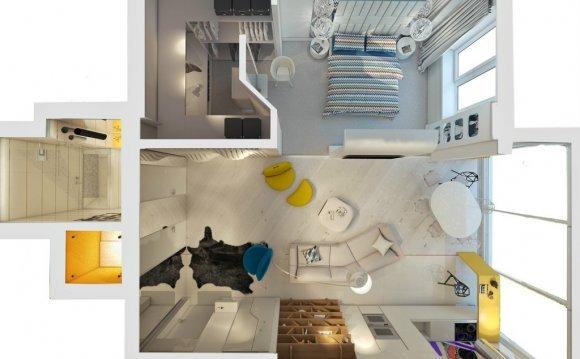 Дизайн квартиры студии 30 кв
