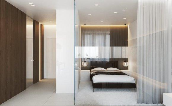 дизайн спальни в однокомнатной