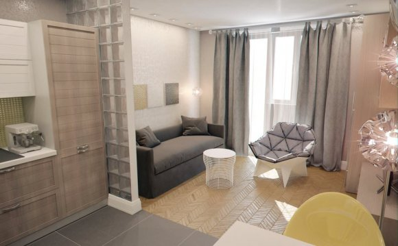 Дизайн квартиры-студии 28 кв